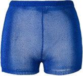 Balmain knitted mini shorts