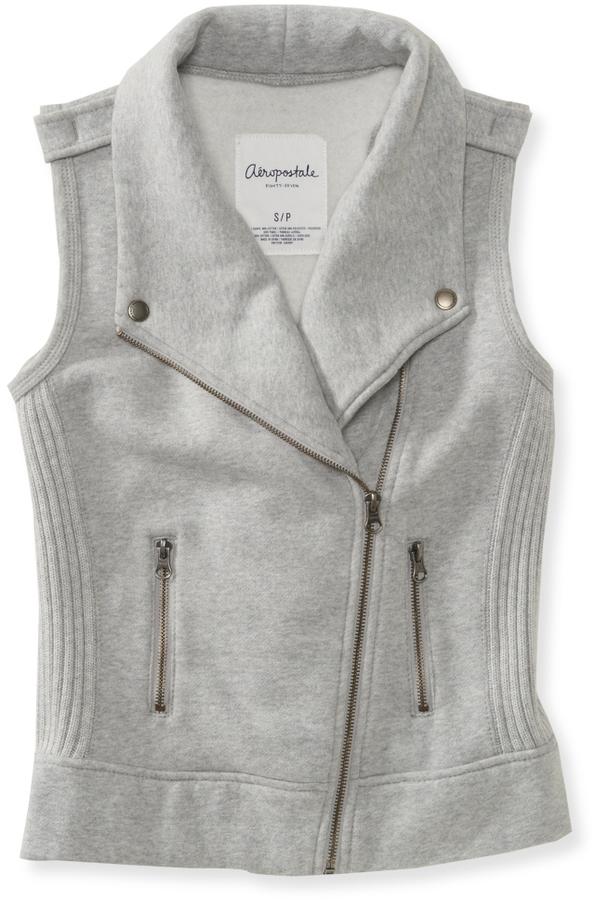 Aeropostale Knit Zip Vest