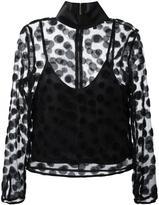 House of Holland semi sheer polka dot blouse - women - Polyester/Acetate - 8