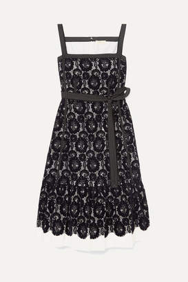 Tory Burch Kristen Flocked Lace And Cotton Dress - Midnight blue