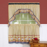 Asstd National Brand Cucina Print Rod-Pocket Window Tier and Swag Valance Set