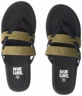 M:uk Muk Luk MUK-LUK Women's Finley Flip Flops (10) Green