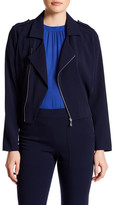 Laundry by Shelli Segal Asymmetrical Front Zip Jacket