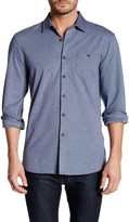 Micros Long Sleeve Button Down Knit Shirt