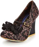 Irregular Choice Cherie Amour flare heel court