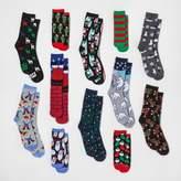 HYP Men's 12 Days of Socks Christmas Socks 6-12
