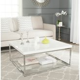 Safavieh Modern Glam Malone White/ Chrome Coffee Table