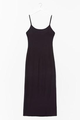 Nasty Gal Womens To the Maxi Plus Slip Dress - Black