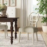Bernhardt Criteria Upholstered Side Dining Chair in Gray