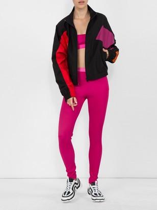 Logo Ribbed Leggings Pink