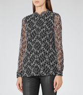 Reiss Loir Lace Contrast-Back Top