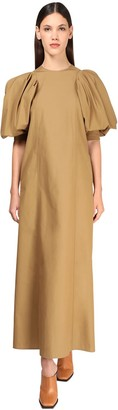 Givenchy Cotton Gabardine Long Dress