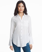 White House Black Market Long Button-Up Shirt