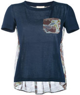 Semi-Couture Semicouture camouflage print panel T-shirt