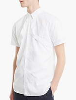 Comme des Garcons White Stripe Relief Short-Sleeved Shirt