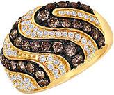 LeVian 14 Kt. Yellow Gold Chocolate and Vanilla Diamond Ring