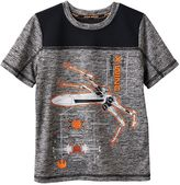 Star Wars a Collection for Kohl's Boys 4-7x X-Wing Fighter Space-Dyed Tee