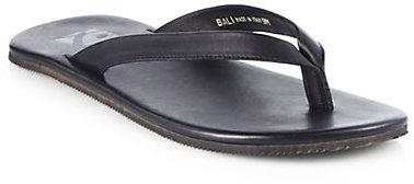 Saks Fifth Avenue Black Label Bali Leather Thong Sandals