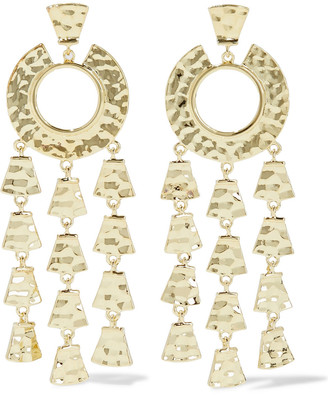 Noir Hammered 14-karat Gold-plated Earrings