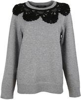 Marc Jacobs Melange Grey Crochet Collar Crewneck