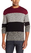 DKNY Men's Long Sleeve Bold Stripe Solid/ Marl Crew Neck Sweater