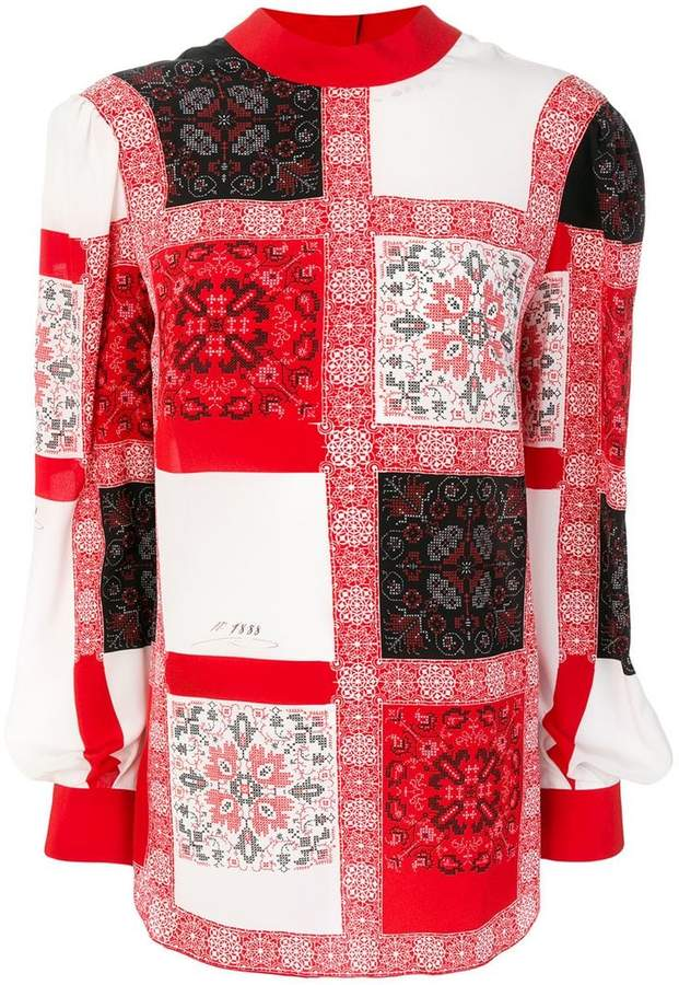 Alexander McQueen multi-patch patterned blouse