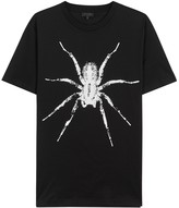 Lanvin Black Spider-print Cotton T-shirt