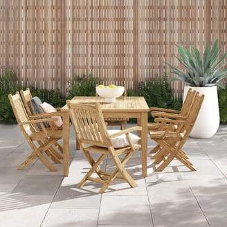 Anthony Logistics For Men Modern Rustic Interiors 7 Piece Teak Dining Set Modern Rustic Interiors