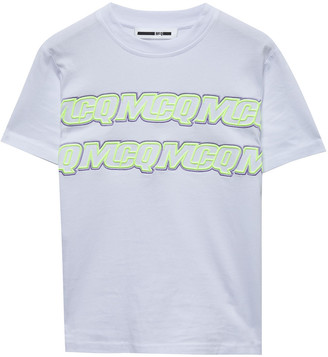 McQ Embroidered Cotton-jersey T-shirt