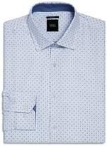 WRK Geometric Grid Slim Fit Dress Shirt