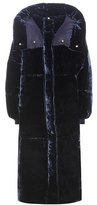Stella McCartney Marcelline Padded Velvet Coat