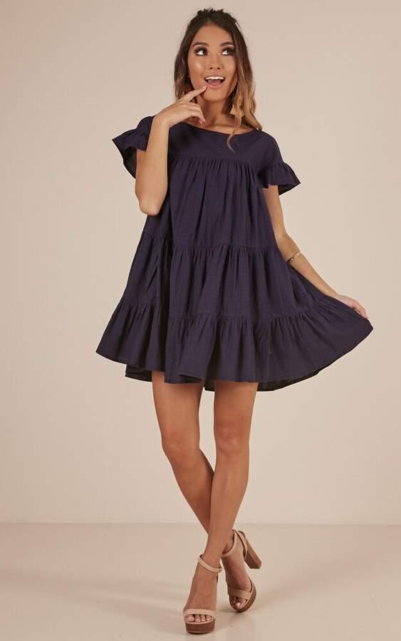 Showpo Timeless Beauty dress in navy