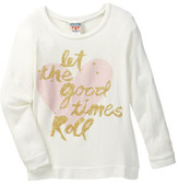Junk Food Clothing Let the Good Times Roll Pullover Sweater (Little Girls & Big Girls)