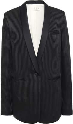 Masscob Alvy Striped Satin-jacquard Blazer