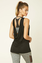 Forever 21 FOREVER 21+ Active Cowl Back Tank Top