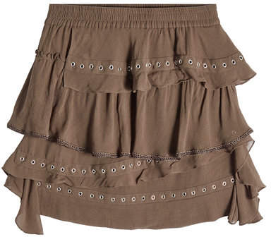 IRO Mini Skirt with Eyelets