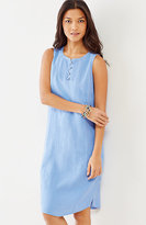 J. Jill Linen Pintucked Sleeveless Dress