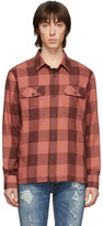 Nudie Jeans Red Block Check Sten Shirt