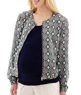 Asstd National Brand Maternity Print Bomber Jacket - Plus