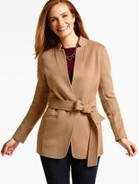 Talbots Belted Double-Face Jacket