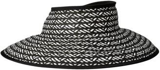 San Diego Hat Company Women's Ultrabraid Packable Stripe Roll Up Visor