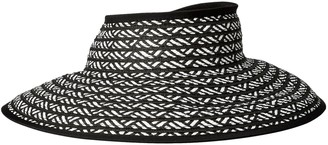 San Diego Hat Company Women's Ultrabriad Packable Stripe Roll Up Visor