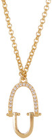 Botkier Crystal Oval Pendant Necklace