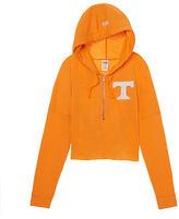 PINK University Of Tennessee Varsity Cropped Half-Zip Hoodie