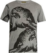 Valentino Panther-print cotton T-shirt