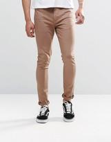 Asos Super Skinny Jeans In Brown