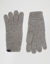 Jack Wills Lambswool Gloves In Gray