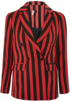 Topshop Humbug Stripe Double Breasted Blazer