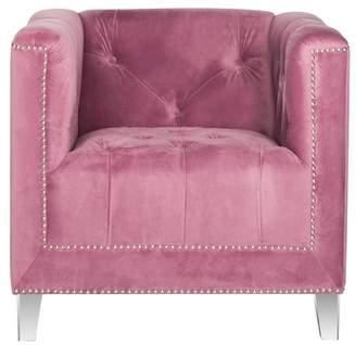 'Safavieh Hollywood Glam Tufted Acrylic Leg Club Chair' from the web at 'https://img.shopstyle-cdn.com/sim/b2/a4/b2a4df46d62aa2cf3b1cf966959ee81c_xlarge/safavieh-hollywood-glam-tufted-acrylic-leg-club-chair.jpg'