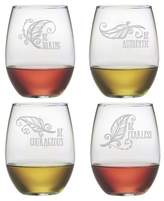 Susquehanna Glass 4pc Be Stemless Wine Glasses